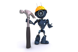 bot with a hammer